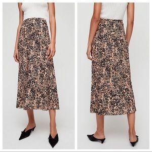 🍁 nwt | wilfred | flows leopard midi skirt